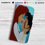 Ariel and Eric Love Disney Custom Leather Wallet iPhone 4/4S 5S/C 6/6S Plus 7| Samsung Galaxy S4 S5 S6 S7 Note 3 4 5| LG G2 G3 G4| Motorola Moto X X2 Nexus 6| Sony Z3 Z4 Mini| HTC ONE X M7 M8 M9 Case
