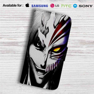Bleach Face Custom Leather Wallet iPhone 4/4S 5S/C 6/6S Plus 7| Samsung Galaxy S4 S5 S6 S7 Note 3 4 5| LG G2 G3 G4| Motorola Moto X X2 Nexus 6| Sony Z3 Z4 Mini| HTC ONE X M7 M8 M9 Case