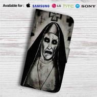 Demon Nun The Conjuring 2 Custom Leather Wallet iPhone 4/4S 5S/C 6/6S Plus 7| Samsung Galaxy S4 S5 S6 S7 Note 3 4 5| LG G2 G3 G4| Motorola Moto X X2 Nexus 6| Sony Z3 Z4 Mini| HTC ONE X M7 M8 M9 Case