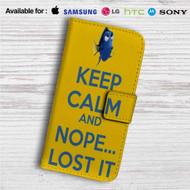 Dory Keep Calm and Nope Lost It Custom Leather Wallet iPhone 4/4S 5S/C 6/6S Plus 7| Samsung Galaxy S4 S5 S6 S7 Note 3 4 5| LG G2 G3 G4| Motorola Moto X X2 Nexus 6| Sony Z3 Z4 Mini| HTC ONE X M7 M8 M9 Case