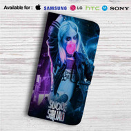 Harley Quinn Suicide Squad Custom Leather Wallet iPhone 4/4S 5S/C 6/6S Plus 7| Samsung Galaxy S4 S5 S6 S7 Note 3 4 5| LG G2 G3 G4| Motorola Moto X X2 Nexus 6| Sony Z3 Z4 Mini| HTC ONE X M7 M8 M9 Case