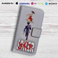 Joker Harley Quinn as Akira Custom Leather Wallet iPhone 4/4S 5S/C 6/6S Plus 7| Samsung Galaxy S4 S5 S6 S7 Note 3 4 5| LG G2 G3 G4| Motorola Moto X X2 Nexus 6| Sony Z3 Z4 Mini| HTC ONE X M7 M8 M9 Case