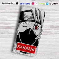 Kakashi Hatake Face Naruto Shippuden Custom Leather Wallet iPhone 4/4S 5S/C 6/6S Plus 7| Samsung Galaxy S4 S5 S6 S7 Note 3 4 5| LG G2 G3 G4| Motorola Moto X X2 Nexus 6| Sony Z3 Z4 Mini| HTC ONE X M7 M8 M9 Case