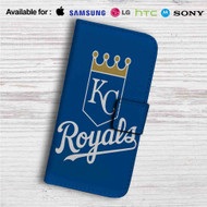 Kansas City Royals Custom Leather Wallet iPhone 4/4S 5S/C 6/6S Plus 7  Samsung Galaxy S4 S5 S6 S7 Note 3 4 5  LG G2 G3 G4  Motorola Moto X X2 Nexus 6  Sony Z3 Z4 Mini  HTC ONE X M7 M8 M9 Case