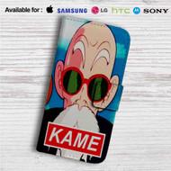 Master Muten Roshi Kame Custom Leather Wallet iPhone 4/4S 5S/C 6/6S Plus 7| Samsung Galaxy S4 S5 S6 S7 Note 3 4 5| LG G2 G3 G4| Motorola Moto X X2 Nexus 6| Sony Z3 Z4 Mini| HTC ONE X M7 M8 M9 Case