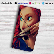 Merida Brave Custom Leather Wallet iPhone 4/4S 5S/C 6/6S Plus 7| Samsung Galaxy S4 S5 S6 S7 Note 3 4 5| LG G2 G3 G4| Motorola Moto X X2 Nexus 6| Sony Z3 Z4 Mini| HTC ONE X M7 M8 M9 Case
