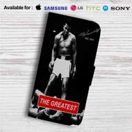 Muhammad Ali 1942 - 2016 Custom Leather Wallet iPhone 4/4S 5S/C 6/6S Plus 7| Samsung Galaxy S4 S5 S6 S7 Note 3 4 5| LG G2 G3 G4| Motorola Moto X X2 Nexus 6| Sony Z3 Z4 Mini| HTC ONE X M7 M8 M9 Case
