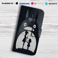 My Neighbor Totoro Custom Leather Wallet iPhone 4/4S 5S/C 6/6S Plus 7  Samsung Galaxy S4 S5 S6 S7 Note 3 4 5  LG G2 G3 G4  Motorola Moto X X2 Nexus 6  Sony Z3 Z4 Mini  HTC ONE X M7 M8 M9 Case