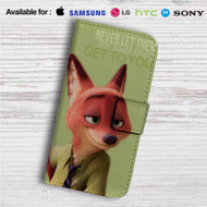 Nick Wilde Quote Custom Leather Wallet iPhone 4/4S 5S/C 6/6S Plus 7| Samsung Galaxy S4 S5 S6 S7 Note 3 4 5| LG G2 G3 G4| Motorola Moto X X2 Nexus 6| Sony Z3 Z4 Mini| HTC ONE X M7 M8 M9 Case