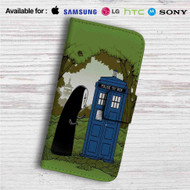 Spirited Away No Face Police Box Custom Leather Wallet iPhone 4/4S 5S/C 6/6S Plus 7| Samsung Galaxy S4 S5 S6 S7 Note 3 4 5| LG G2 G3 G4| Motorola Moto X X2 Nexus 6| Sony Z3 Z4 Mini| HTC ONE X M7 M8 M9 Case