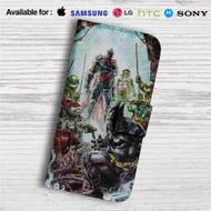 Teenage Mutant Ninja Turtles With Batman Custom Leather Wallet iPhone 4/4S 5S/C 6/6S Plus 7| Samsung Galaxy S4 S5 S6 S7 Note 3 4 5| LG G2 G3 G4| Motorola Moto X X2 Nexus 6| Sony Z3 Z4 Mini| HTC ONE X M7 M8 M9 Case