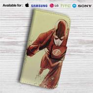 The Flash Art Custom Leather Wallet iPhone 4/4S 5S/C 6/6S Plus 7| Samsung Galaxy S4 S5 S6 S7 Note 3 4 5| LG G2 G3 G4| Motorola Moto X X2 Nexus 6| Sony Z3 Z4 Mini| HTC ONE X M7 M8 M9 Case
