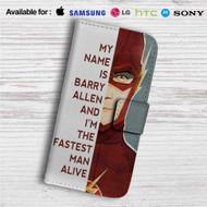 The Flash Quotes Custom Leather Wallet iPhone 4/4S 5S/C 6/6S Plus 7| Samsung Galaxy S4 S5 S6 S7 Note 3 4 5| LG G2 G3 G4| Motorola Moto X X2 Nexus 6| Sony Z3 Z4 Mini| HTC ONE X M7 M8 M9 Case