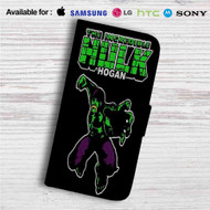 The Incredible Hulk Hogan Custom Leather Wallet iPhone 4/4S 5S/C 6/6S Plus 7| Samsung Galaxy S4 S5 S6 S7 Note 3 4 5| LG G2 G3 G4| Motorola Moto X X2 Nexus 6| Sony Z3 Z4 Mini| HTC ONE X M7 M8 M9 Case