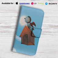 The Peanuts Snoopy Flying Custom Leather Wallet iPhone 4/4S 5S/C 6/6S Plus 7| Samsung Galaxy S4 S5 S6 S7 Note 3 4 5| LG G2 G3 G4| Motorola Moto X X2 Nexus 6| Sony Z3 Z4 Mini| HTC ONE X M7 M8 M9 Case