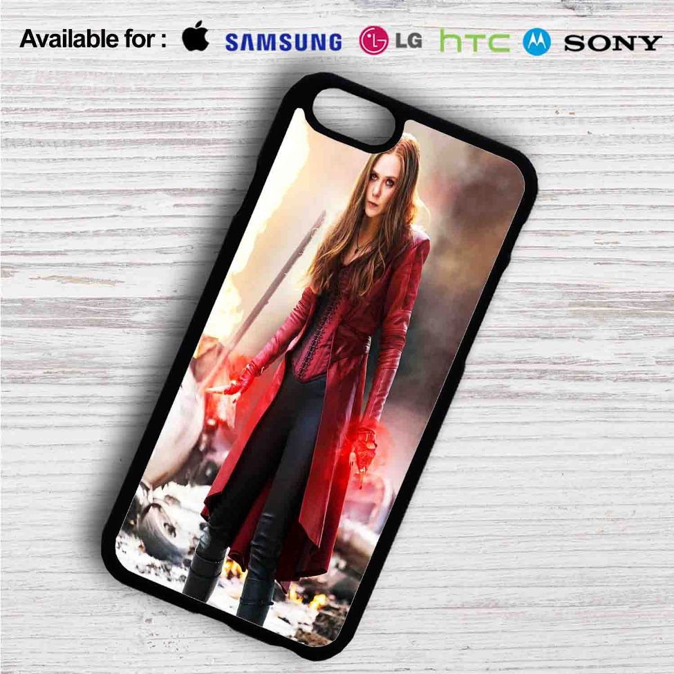 huge discount 04a2c bd79a Scarlet Witch from Captain America Civil War iPhone 4/4S 5 S/C/SE 6/6S Plus  7| Samsung Galaxy S4 S5 S6 S7 NOTE 3 4 5| LG G2 G3 G4| MOTOROLA MOTO X X2  ...