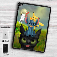 "Pikachu Stitch and Toothless iPad 2 3 4 iPad Mini 1 2 3 4 iPad Air 1 2 | Samsung Galaxy Tab 10.1"" Tab 2 7"" Tab 3 7"" Tab 3 8"" Tab 4 7"" Case"