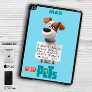 "The Secret Life of Pets Max iPad 2 3 4 iPad Mini 1 2 3 4 iPad Air 1 2 | Samsung Galaxy Tab 10.1"" Tab 2 7"" Tab 3 7"" Tab 3 8"" Tab 4 7"" Case"