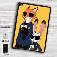 "Zootopia Nick and Judy Police iPad 2 3 4 iPad Mini 1 2 3 4 iPad Air 1 2 | Samsung Galaxy Tab 10.1"" Tab 2 7"" Tab 3 7"" Tab 3 8"" Tab 4 7"" Case"