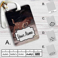 Bambi and Thumper Disney Custom Leather Luggage Tag