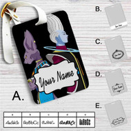 Beerus and Whis Dragon Ball Super Custom Leather Luggage Tag