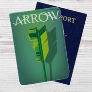 Arrow Custom Leather Passport Wallet Case Cover