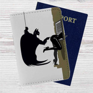 Batman I'm Not Touching You Custom Leather Passport Wallet Case Cover