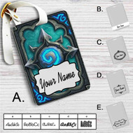 Card Back Hearthstone Heroes of Warcraft Custom Leather Luggage Tag