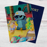 Disney Stitch Like Army Custom Leather Passport Wallet Case Cover