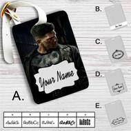 Frank Castle Punisher Custom Leather Luggage Tag