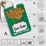 Futurama Fry Box of Fries Custom Leather Luggage Tag