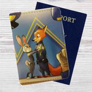 Disney Zootopia Police Custom Leather Passport Wallet Case Cover