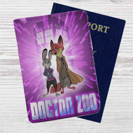 Doctor Who Zootopia Disney Custom Leather Passport Wallet Case Cover