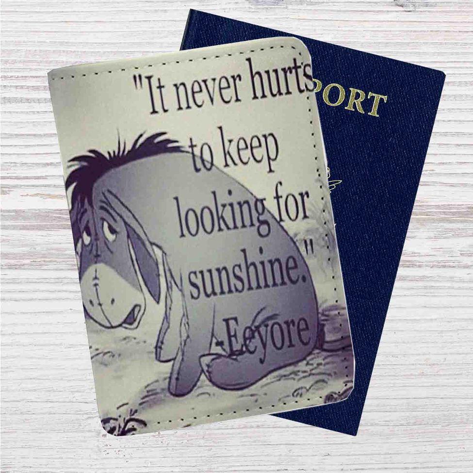 Eeyore Winnie The Pooh Quotes Custom Leather Passport ...