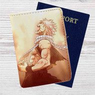 Fairy Tail Natsu Dragneel Custom Leather Passport Wallet Case Cover
