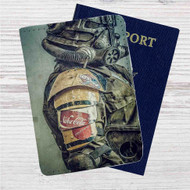 Fallout 4 Army Nuka Cola Custom Leather Passport Wallet Case Cover