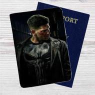 Frank Castle Punisher Custom Leather Passport Wallet Case Cover