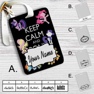 Keep Calm and Pony On My Little Pony Custom Leather Luggage Tag