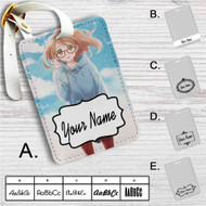 Kyoukai no Kanata I'll Be Here Custom Leather Luggage Tag