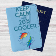Keep Calm and Be Cooler My Little Pony Custom Leather Passport Wallet Case Cover