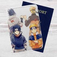 Naruto Shippude Sasuke and Uzumaki Custom Leather Passport Wallet Case Cover