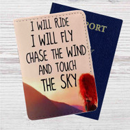 Merida Brave Quotes Disney Custom Leather Passport Wallet Case Cover