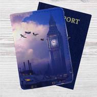 Peter Pan Big Ben Disney Custom Leather Passport Wallet Case Cover