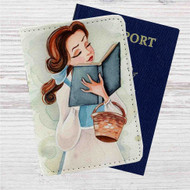Princess Belle Beauty and The Beast Disney Custom Leather Passport Wallet Case Cover