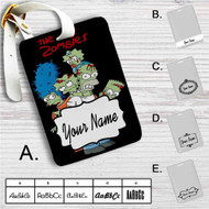 The Simpsons Zombies Custom Leather Luggage Tag