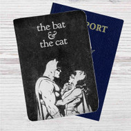 The Bat and The Cat Custom Leather Passport Wallet Case Cover