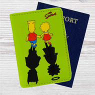 The Simpsons' Shadows Custom Leather Passport Wallet Case Cover