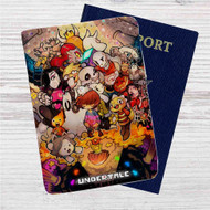Undertale All Characters Game Custom Leather Passport Wallet Case Cover