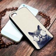 Glasses cat on your case iphone 4 4s 5 5s 5c 6 6plus 7 case / cases