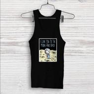 Snoopy Love Moon Custom Men Woman Tank Top T Shirt Shirt